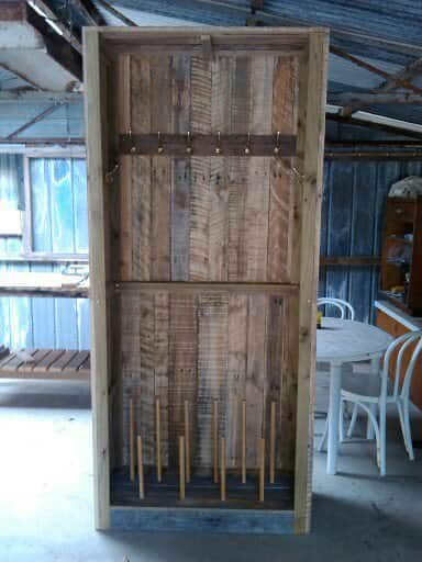 Outdoor Pallet Cabinet Pallet Cabinets & Wardrobes