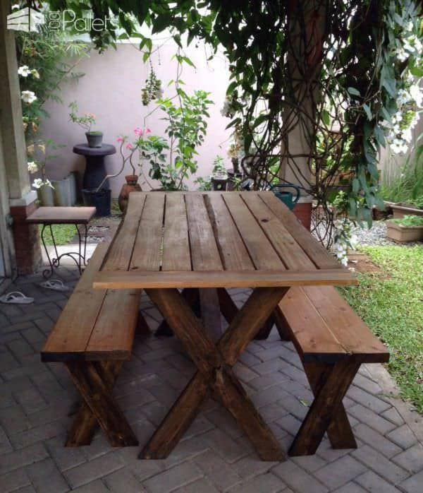 Pallet Garden Projects: Table, Bench & Planters Lounges & Garden Sets Pallet Planters & Compost Bins