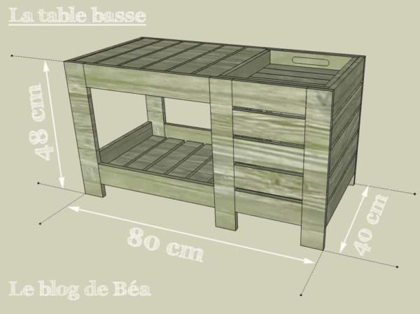 Special Coffee Table With Box / Table Basse Avec Coffre De Rangement Pallet Coffee Tables