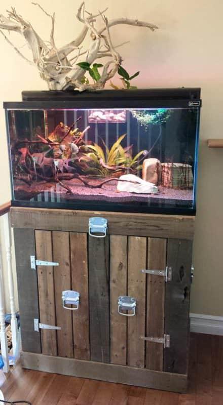 Aquarium Stand From Pallets Pallet TV Stands & Racks