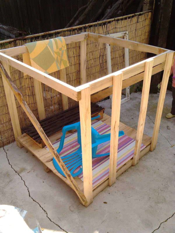 Bohemian Style Pallet Kids Playhouse Fun Pallet Crafts for Kids Pallet Sheds, Cabins, Huts & Playhouses