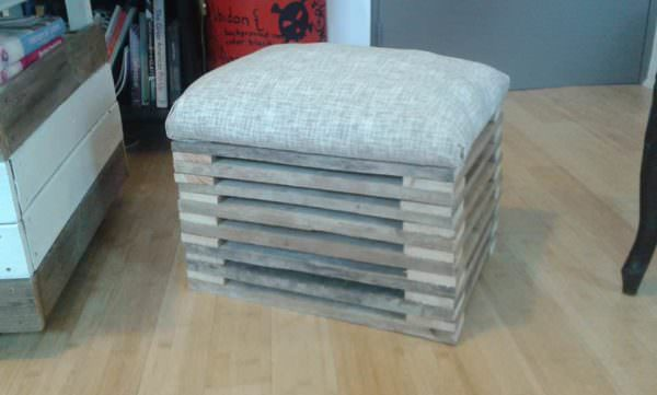 Footstool From A Single Repurposed Pallet Pallet Benches, Pallet Chairs & Stools