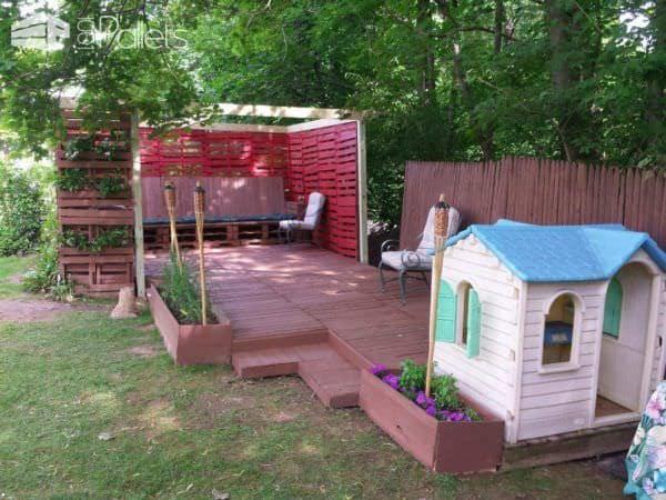 Our Pallet Backyard Lounges & Garden Sets Pallet Terraces & Pallet Patios