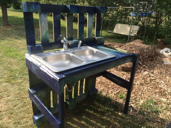 Pallet Garden Washing Station Other Pallet Projects