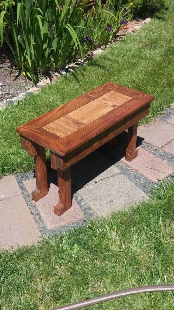 Pallet Living Room End Table Pallet Desks & Pallet Tables