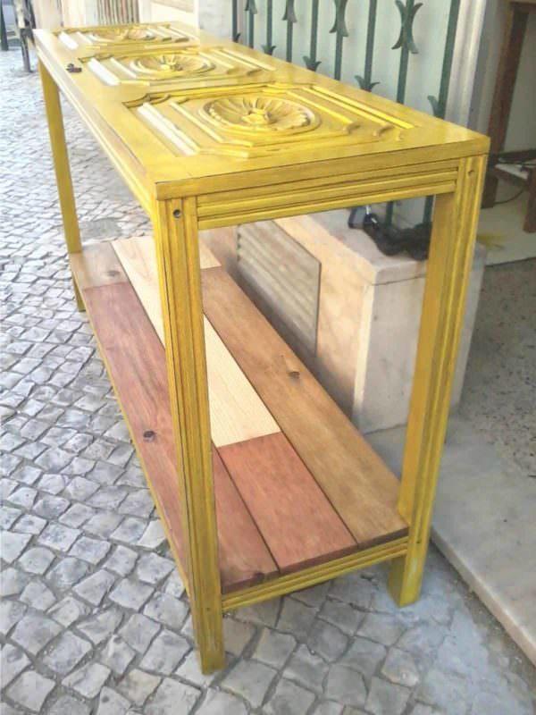 Room Sideboard Made with a Closet Door Pallet Desks & Pallet Tables