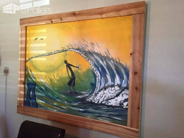 Wednesdays Wall Art  From Reclaimed Pallet Wood Pallet Wall Decor & Pallet Painting