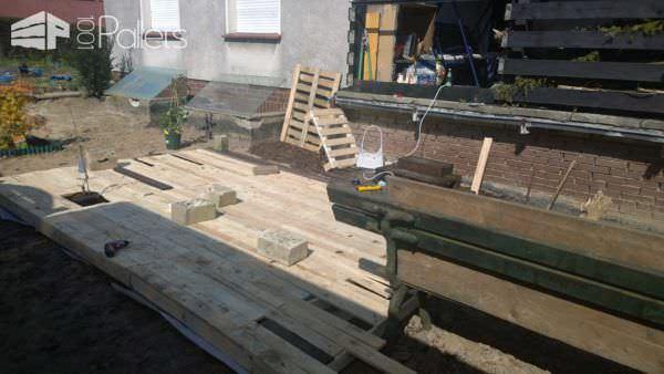 Gartenterasse / Pallet Terrace Pallet Terraces & Pallet Patios