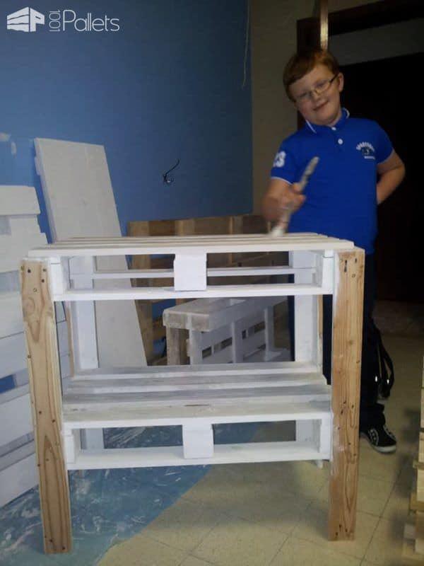 Homemade Corner Tv Stand From Wooden Pallets Pallet TV Stands & Racks