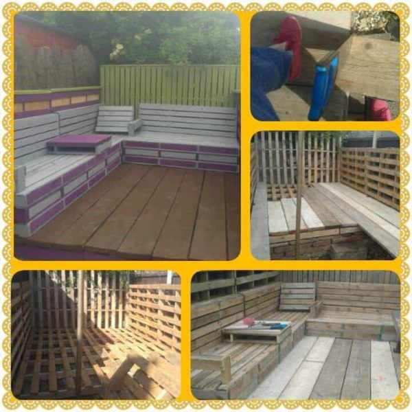 Pallet Deck & Seating Area Lounges & Garden Sets