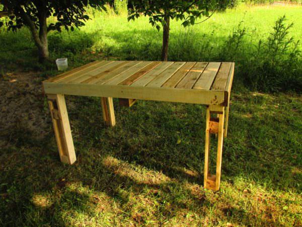 Table De Jardin / Pallet Garden Table Pallet Desks & Pallet Tables