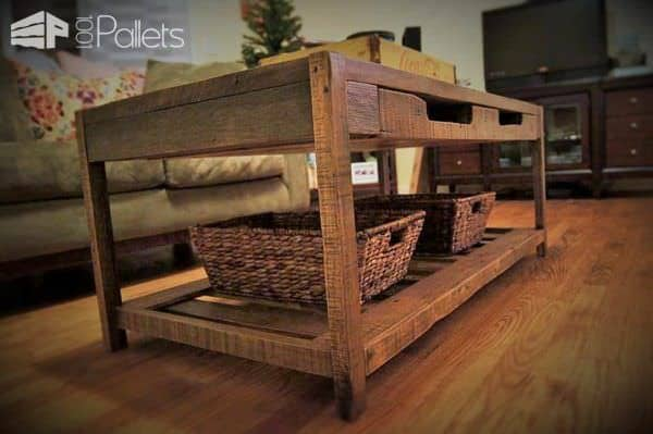 Beautiful Rustic Pallet Coffee Table Pallet Coffee Tables