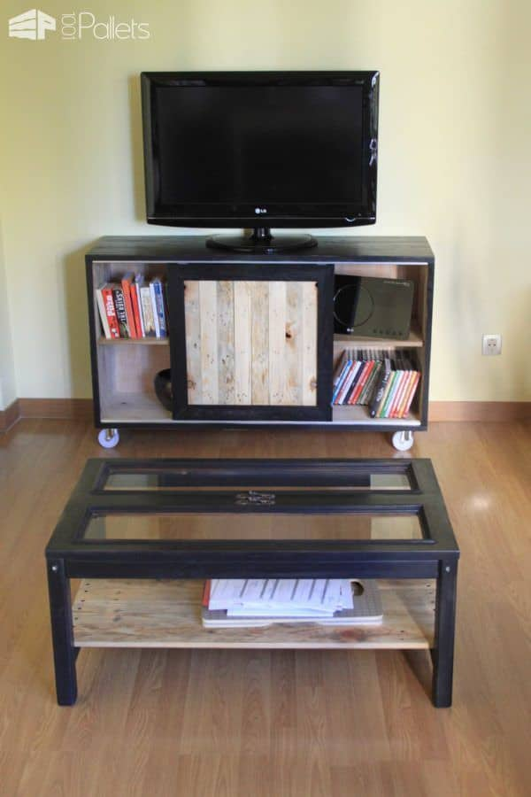 Dining Room Pallet Sideboard Pallet Cabinets & Wardrobes