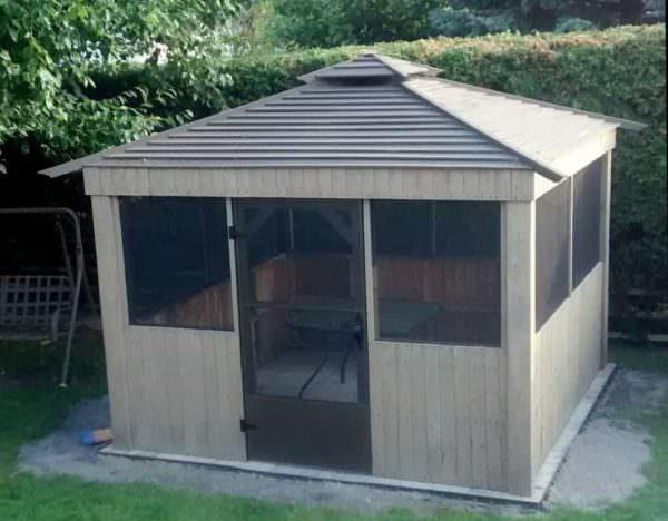 Gazebo En Palette / Pallet Garden Gazebo Pallet Sheds, Cabins, Huts & Playhouses