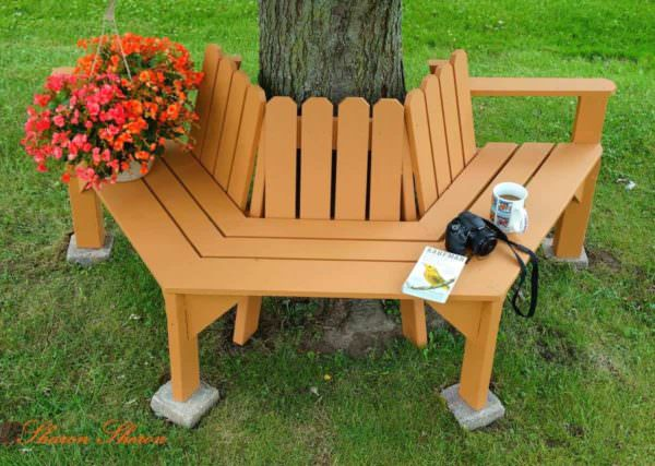 How to Make a Pallet Tree Seat Pallet Benches, Pallet Chairs & Stools