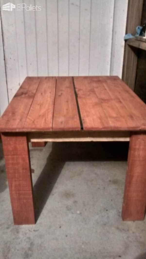 Kids Pallet Table & Chairs Fun Pallet Crafts for Kids Pallet Desks & Pallet Tables