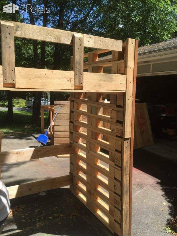 Pallet Loft Bed Pallet Beds, Pallet Headboards & Frames