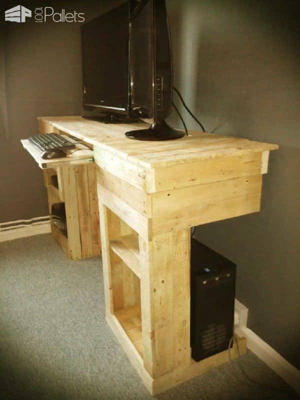 Pallet Pc & Entertainment Desk Pallet Desks & Pallet Tables