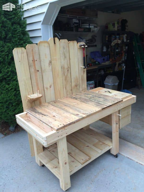 Pallet Potting Bench Pallet Benches, Pallet Chairs & Stools