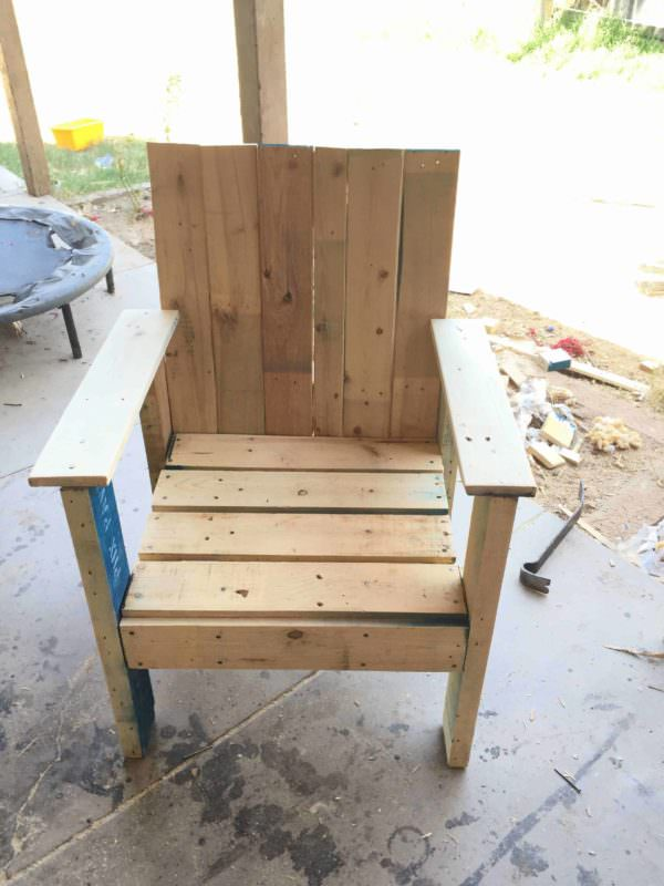 Patio Pallet Chair Pallet Benches, Pallet Chairs & Stools