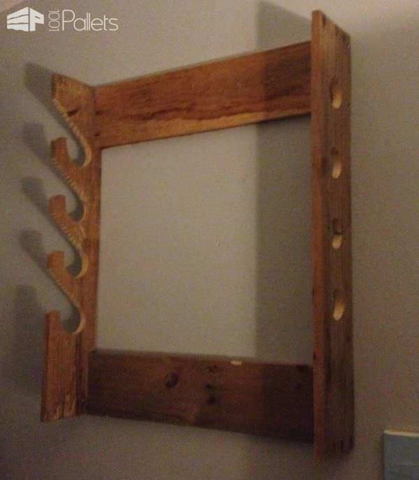 Simple Pallet Gun Rack Pallet Shelves & Pallet Coat Hangers