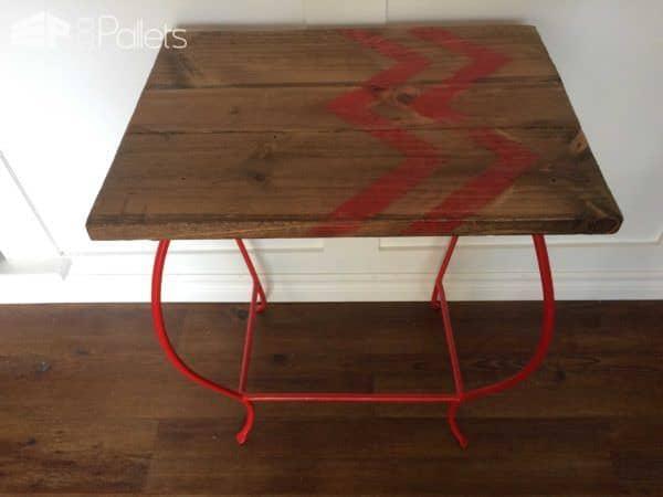 Accent Table Chevron Pallet Desks & Pallet Tables