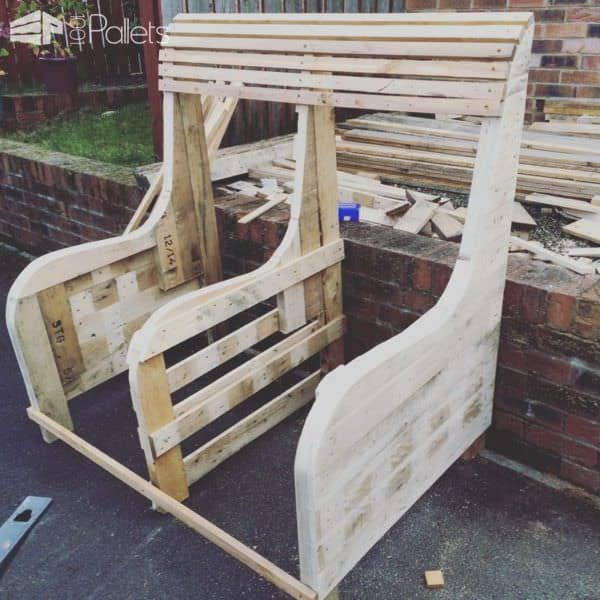 Commissioned Garden Pallet Bench Pallet Benches, Pallet Chairs & Stools