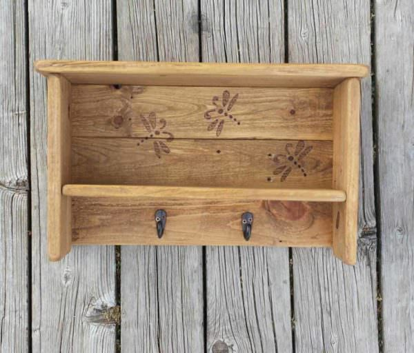 Dragonfly Shelf Pallet Shelves & Pallet Coat Hangers