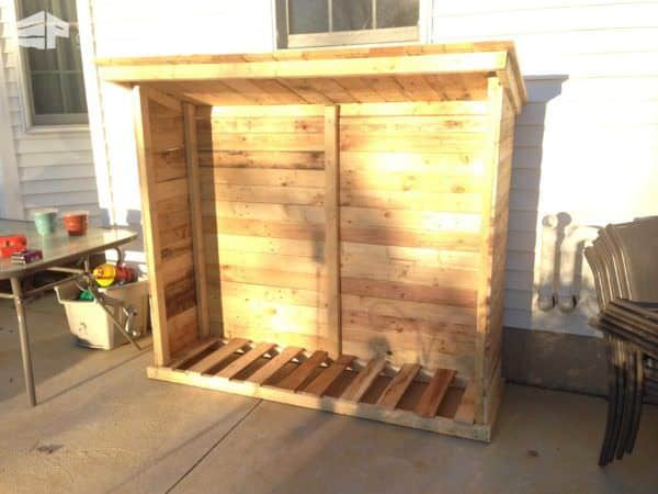Firewood Shed From Recycled Pallets Pallet Sheds, Cabins, Huts & Playhouses