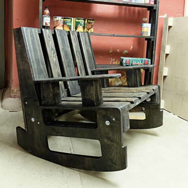 2-pallets Rocking Chair Pallet Benches, Pallet Chairs & Stools