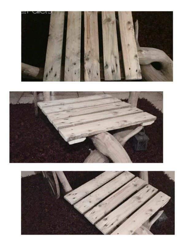 Table De Salon / Living Room Coffee Table Pallet Desks & Pallet Tables