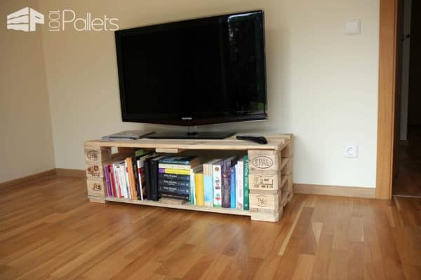 Tv Stand from Pallets with Secret Compartment Pallet TV Stands & Racks