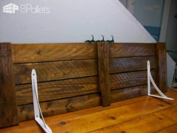Laundry Shelf Pallet Shelves & Pallet Coat Hangers