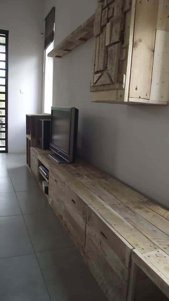 Long & Design Pallet Tv Stand Pallet TV Stands & Racks