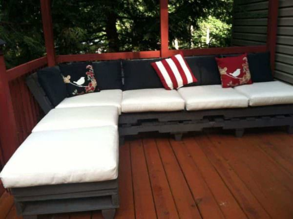 Outdoor Pallet Relaxation Sofa Lounges & Garden Sets Pallet Sofas & Couches