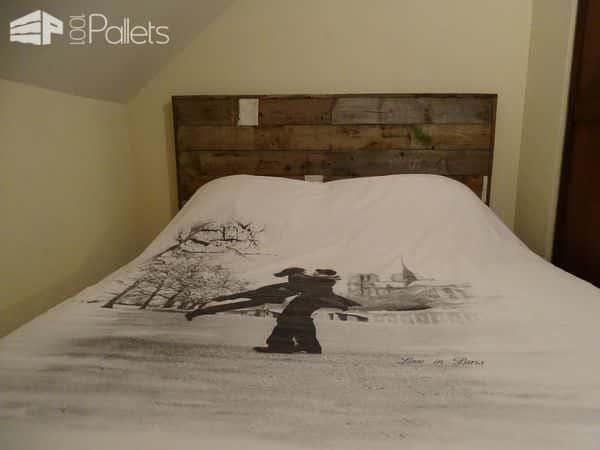 Palet Bed Headboard / Tête De Lit Esprit Recup' Pallet Beds, Pallet Headboards & Frames