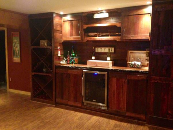 Pallet Bar & Wine Storage Pallet Bars