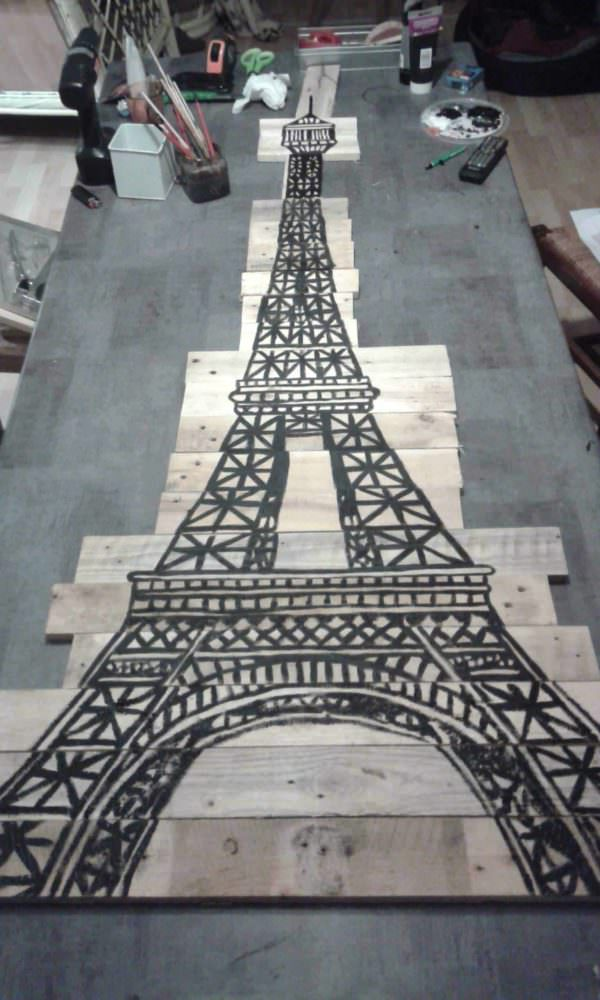 Pallet Eiffel Tower as a Christmas Tree Pallet Home Accessories