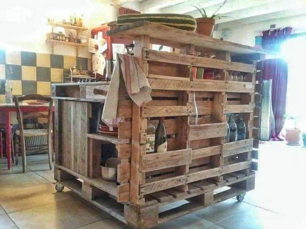 Pallet Mobile Kitchen Island Pallet Desks & Pallet Tables