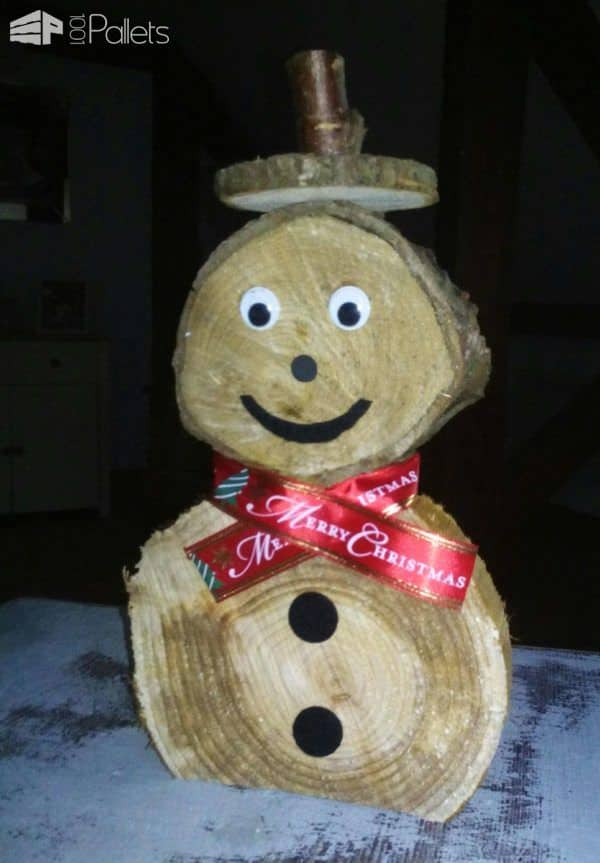 Snowmen For Christmas, Handmade From Timber Off Cuts Pallet Home Accessories