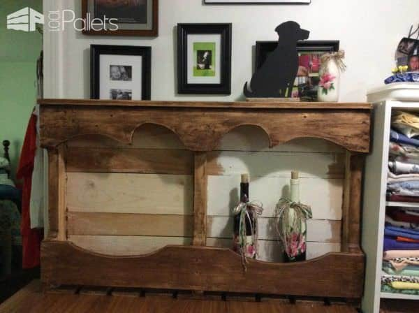 Wine Rack for a Wedding Gift Pallet Cabinets & Wardrobes