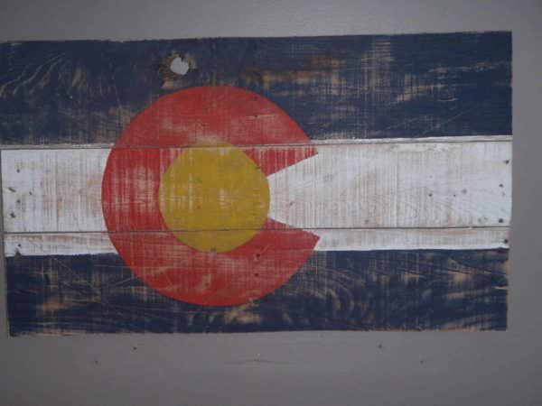Colorado Pallet Flag Pallet Wall Decor & Pallet Painting