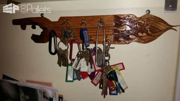 Key Holder From Pallet Wood Pallet Shelves & Pallet Coat Hangers