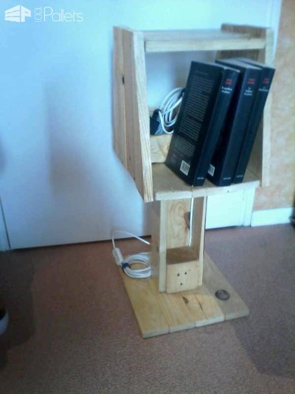 Lampe Range Livre / Pallet Bookcase Lamp Pallet Bookcases & Bookshelves Pallet Lamps & Lights Pallet Shelves & Pallet Coat Hangers