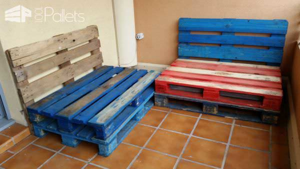Make a Balcony Pallet Lounge under 100$ Lounges & Garden Sets