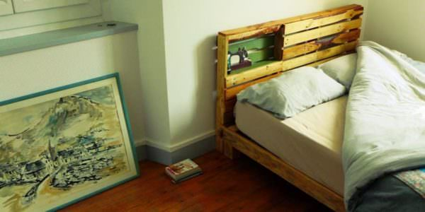New Pallet Bed Frame & Headboard for Our New Home Pallet Beds, Pallet Headboards & Frames