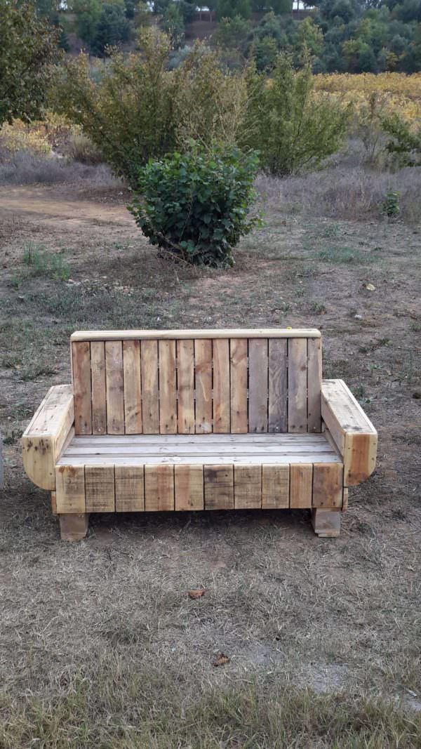 Outdoor Pallet Bench Pallet Benches, Pallet Chairs & Stools