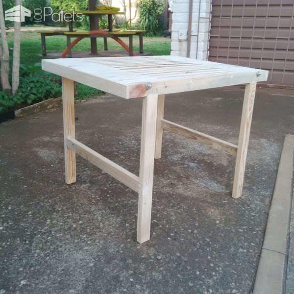Outdoor Pallet Table Pallet Desks & Pallet Tables