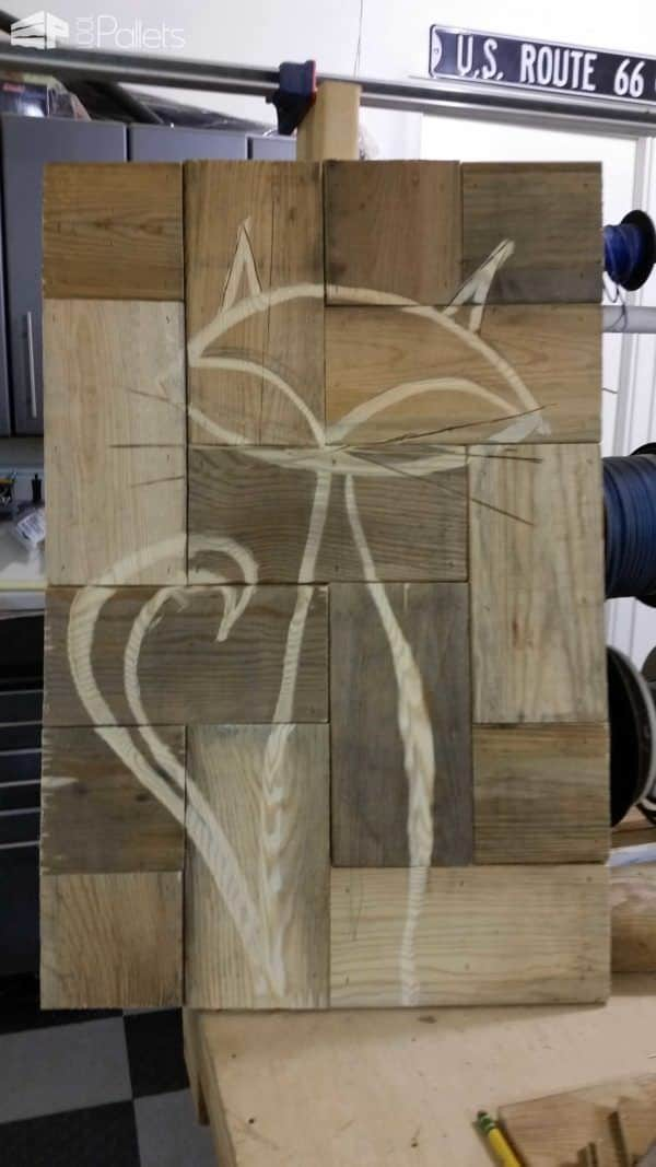 Pallet Alley Cat Pallet Wall Decor & Pallet Painting