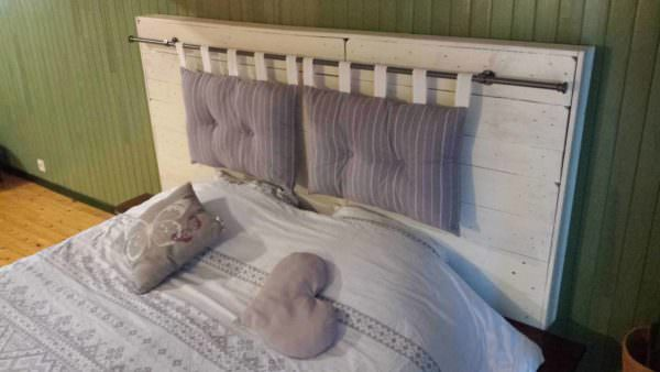 Pallet Bed Headboard by Nico / Tête De Lit by Nico Pallet Beds, Pallet Headboards & Frames